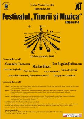 "Festivalul ""Tinerii si Muzica"" la Teatrul Act"