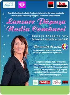 Nadia Comaneci la Baneasa Shopping City