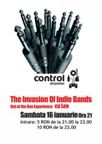 Indie Bands Invasion – party in Club Control