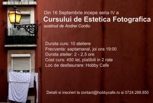 Curs de Estetica Fotografica la Hobby Café