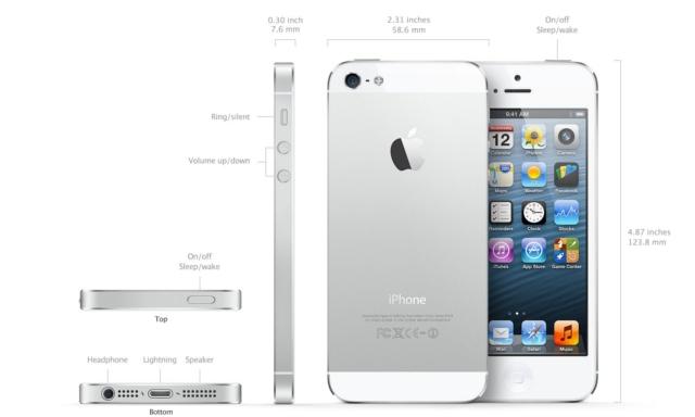 iphone 5 alb iPhone 5 pret si detalii tehnice